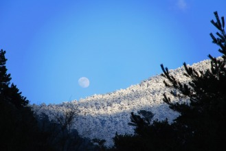 Atardecer de luz de luna   Evening moonlight